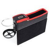 Car Storage Box Seat Cup Drink Holder Organizer Catcher Coin Gap Filler Pocket