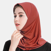 Hijab Scarf Women Solid Crystal Hemp