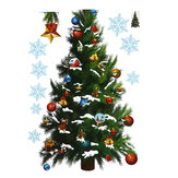Christmas Party Home Decoration Removable Green Christmas Tree Wall Stickers For Kids Children Toys