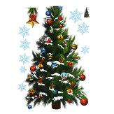 РождественскаявечеринкаДомашнееукрашениеСъемныезеленые наклейки из елки на Рождество для детей Детские игрушки