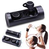 [True Wireless] Portable Dual-Bluetooth-Ohrhörer Ratation Open Waterproof Stereo mit Ladekoffer