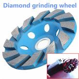 4 pulgadas 6 agujero de piedra de granito molinillo de disco de la rueda taza molienda segmento de diamante