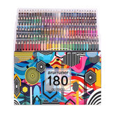 Brutfuner 180 Colors Oil Color Pencils Wood Pre-Sharped Professional Pencil Set for School Drawing Sketching Art Supplies