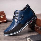 Мужские Классические Soft Подошва на шнуровке Деловые Повседневные лодыжки Ботинки