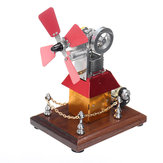STEM High Speed Stirling Engine Windmill Fan Propeller External Combustion Engine Model Decor Gift
