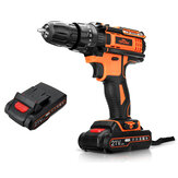 TOPSHAK TS-ED2 21V Brushed Cordless Impact Drill 2000mAh Rechargeable 2 Speeds LED Electric Drill W/ 1/2pcs Battery
