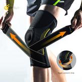 Joelheira para dor Atadura de malha de pressão Esporte joelheiras Suporte Aptidão Protetor de basquete para ciclismo
