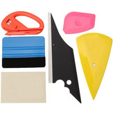 6Pcs Window Tinting Tool Glass Vinyl Sticker Scrapers Felt Squeegee Cutter