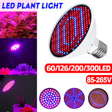 E27 60/126/200/300LED Grow Light Bulb Indoor Plant Hydroponic Flower Veg Lamp 85-265V