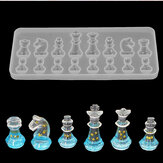 1PCS Crystal Chess siliconen mal voor DIY Ornament Resin Casting Craft Mold Tool