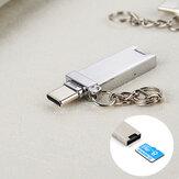 Bakeey 2 en 1 USB 3.1 Type-C Lector de tarjetas TF Lector de tarjetas de memoria de alta velocidad OTG de aleación de aluminio de 2TB para dispositivo de interfaz Smartphone Tipo-c