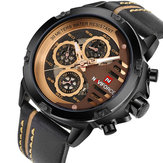 NAVIFORCE 9110 Orologi da uomo Luxury Fashion 24 Hours Display L