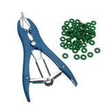 Schaf Kastration / Banding / Tail Docking / Applikator / 100 Ringe / Rinder / Kennzeichnung / Farm Castrator Tools