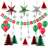 Merry Christmas Hats Trees Latex Round Balloons Santa Xmas Party Home Decors