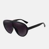 Unisex lens uit één stuk groot full-frame UV bescherming zonnescherm modieuze zonnebril