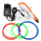 12V 3A 1.75 mm 0.7mm Nozzle Yellow/Red 3D Printing Pen + 3 Filaments For Children