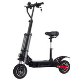 Lutedrive L88 28.6AH 52V 1200Wx2 Dual Motor Folding Electric Scooter With Saddle 70km/h Top Speed 100km Mileage Range 200kg Bearing EU Plug