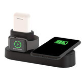 US Plug 4 in 1 Qi stazione di ricarica per caricabatterie wireless per Smart Phone / serie Apple Watch / Apple AirPods