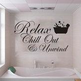 Miico3DCreativoAdesivimuraliin PVC Home Decor Murale Art Rimovibile Bagno speciali Parole Stickers murali