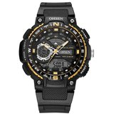 OHSEN AD1705 Digital Watch Dual Display Multifuncional LED Sport Swimming Men Watch