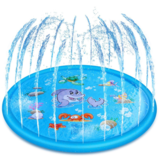 172cm Kid Inflatable Splash Play Pool Fun Water Playing Sprinkler Mat Yard Outdoor Summer PVC Mini Round Spray Swimming Pool