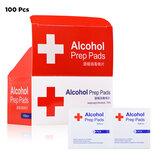 100PCS 3 / 6x6cm 75% Alcohol Formule Doekjes Pads Wegwerp desinfectie Reiniging Vochtige doekjes