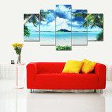5PCSObrazynapłótnieSeascapeBeach Printing Modern Home Wall Decor Art