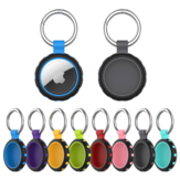 Bakeey Portable Shockproof Soft Silicone Protective Cover Sleeve with Keychain for Apple AirTag bluetooth Tracker