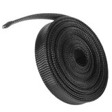 6m 8mm / 10mm / 12mm / 15mm / 20mm Wire Cable Sheathing Uitbreidbaar Sleeving Gevlochten Loom Tubing Black