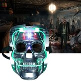 Silver Light Up LED Skeleton Skull Rave Maske Halloween Cosplay Kostüm Party