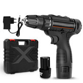 12V 3/8'' 30N.m Electric Cordless Drill Driver 2 Speeds LED Electric Screwdriver W/ Battery
