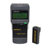SC8108 Portable Multifunction Digital LCD Wireless PC Data Network CAT5 RJ45 LAN Phone Detector Meter Length Cable Tester