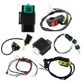 50cc 70cc 90cc 110cc 125cc Wiring Harness Loom Solenoid Coil Rectifier CDI For ATV Quad Dirt Bike
