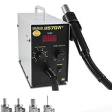 QUICK 857DW+ Adjustable Hot Air 580W Soldering Rework Station with 4Pcs Nozzles + Heater