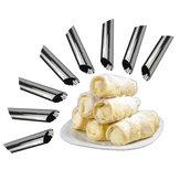 8個1セットデンマークのステンレス鋼チューブクリーム金型ケーキデザートペストリークリーム金型クロワッサン金型ステンレスDIYベーキング金型ケーキキッチン金型のクッキングツール