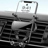 ROCK Evrensel Yerçekimi Araba Telefon Tutucu Hava Firar Montajı Yok Manyetik GPS IPhone / Xiaomi / Huawei için Stand
