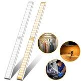 60LED USB Rechargeable 60LED Motion Sensor Cabinet Night Light Kitchen Closet Lamp Bar