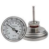 "CervejaDeCervejaDeCervejaHomebrewing Termômetro Weldless Bi-metal Termômetro Kit 3 ""Face & 2"" Sonda 1/2 ""MNPT 0 ~ 220F Grau Chaleira Homebrew"