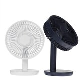 Ventilador de mesa de ângulo ajustável DC5V 3-Gear USB Charging Mini Fan Black / White Para Outdoor Travle Camping