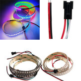5V WS2812B 43W 144 SMD 5050 RGB LED Strip ضد للماء IP65 Individual Addressable