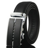 Men Business Genuine Leather Belt Casual Metal Automatic Buckle Strap Jeans Cowboy