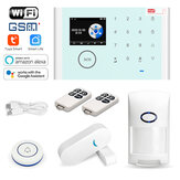 Tuya Wireless Home Security Burglar WiFi GSM إنذار System Kit App التحكم عن بعد مراقبة الدعم Alexa and Google Assistant