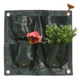 4 Bolsos Para Casa Jardim Varanda Planta Sacos de Flores Penduradas Pote de Flor PE Plantaing Grow Bag