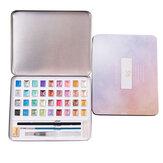 12/36 kleuren effen aquarel set parelmoer effen aquarel pigment kunst kit briefpapier volwassen schilderbenodigdheden