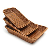 Storage Basket Rattan Handwork Bread Basket Food Fruit Proofing Proving Baskets