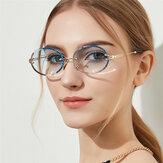 نظارة شمسية بيضاوية عتيقة للنساء