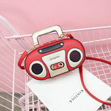 Women Radio Stereo Shoulder Bag Rivet Cute Crossbody Bag