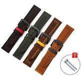 Bakeey 18/20/22/24 مللي متر عرض عالمي الطبقة الأولى جلد طبيعي ساعة حزام حزام استبدال ل Samsung Galaxy Watch 3