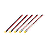 5PCS RJXHOBBY XT30 Plug Male Connector with 150mm 16AWG Silicone Wire for RC Drone FPV Racing