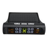 Solar TPMS Wireless Car Tire Pressure LCD Sistema de monitoramento com 4 externos Sensor